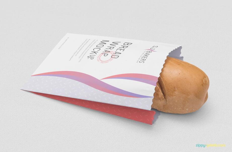 Free Simple Bread Packaging Mockup