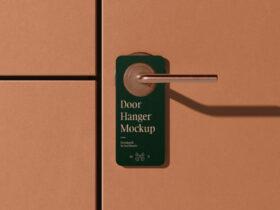 Free Simple Door Hanger Mockup PSD