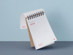 Free Simple Notepad Mockup