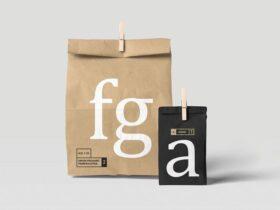 Free Simple Paper Bag Mockup
