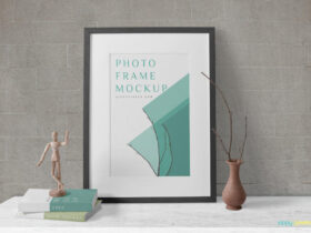 Free Simple Wood Frame Mockup PSD