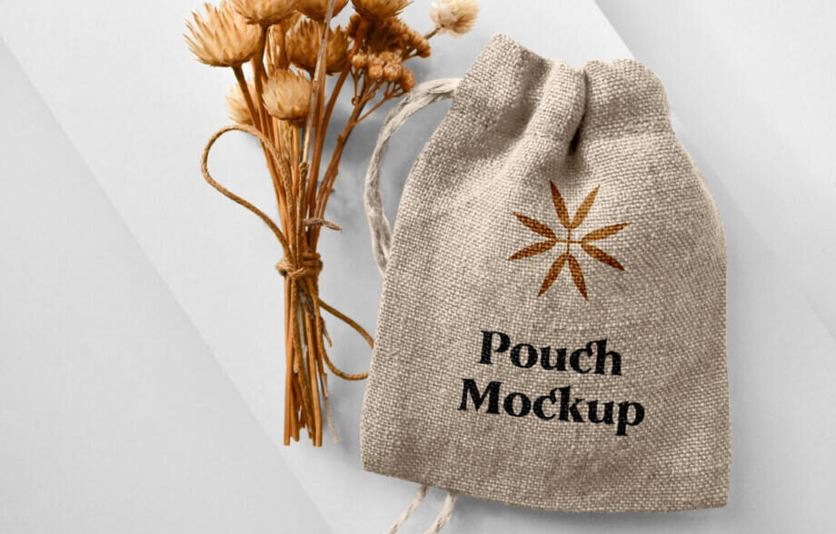Free Small Pouch Mockup