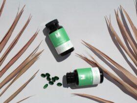 Free Soft Capsules Pill Bottle Mockup PSD