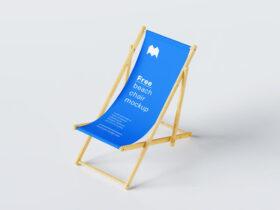 Free Summer Beach Chair Mockup PSD