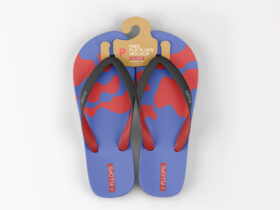 Free Summer Flip Flops Mockup PSD