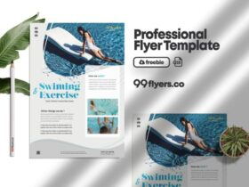 Free Swimming Lessons Flyer PSD Template