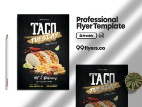 Free Taco Tuesday Party Flyer PSD Template
