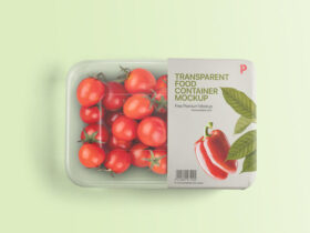 Free Transparent Food Container Mockup PSD
