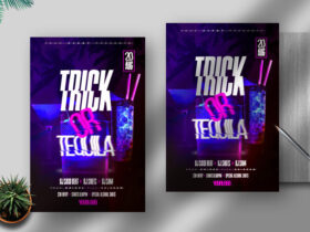 Free Trick or Tequila Flyer PSD Template