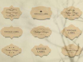 Free Vintage Label Mockups