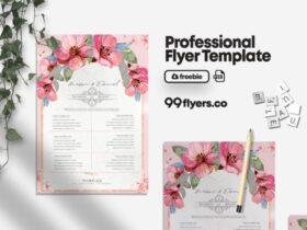 Free Wedding Check List PSD Flyer Template