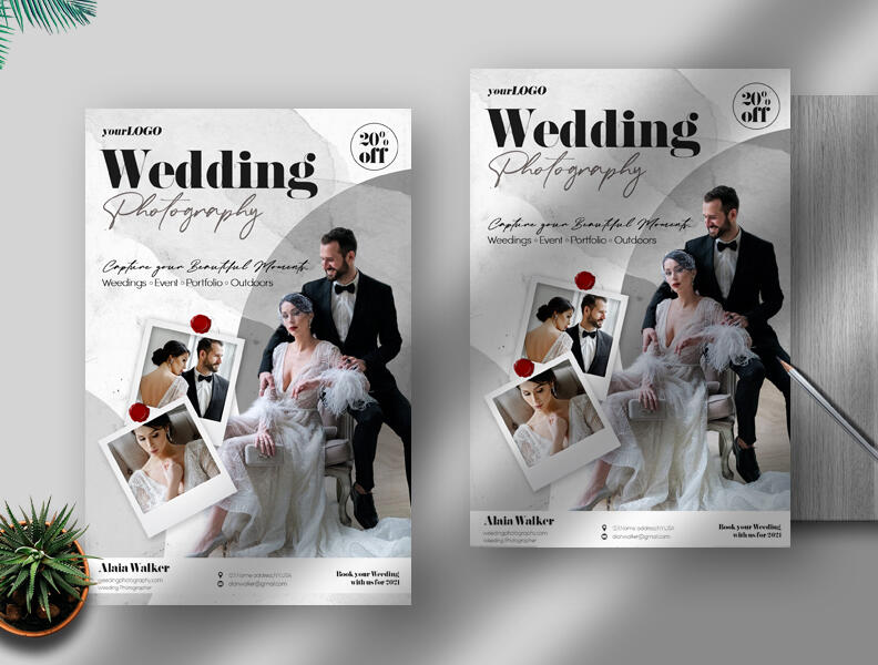 Free Wedding Photography PSD Flyer Template
