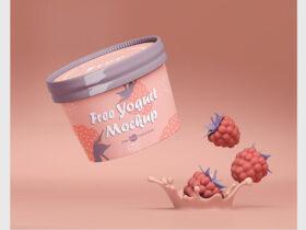 Free Yogurt Packaging Mockup