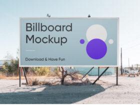 Free Horizontal Billboard PSD Mockup