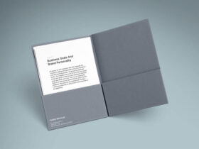 Free A4 Folder and Paper Mockups PSD