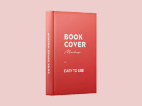 Free Book Spine and Cover Mockup PSD Template
