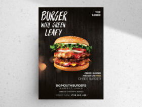 Free Burger Ad PSD Flyer Template