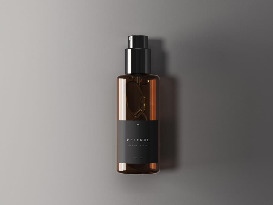 Free Classic Perfume Bottle Mockup PSD Template