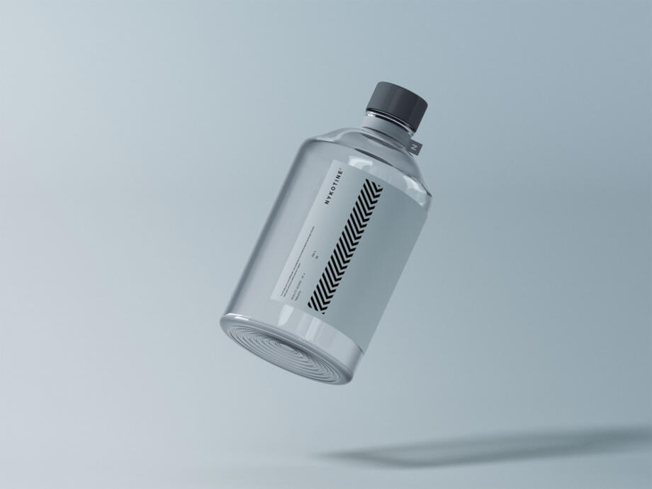Free Clear Glass Medical Bottle Mockup PSD Template