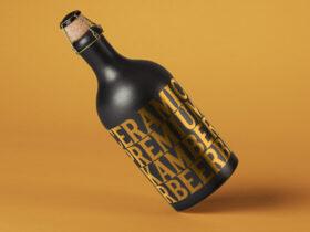 Free Dark Bottle Mockup PSD