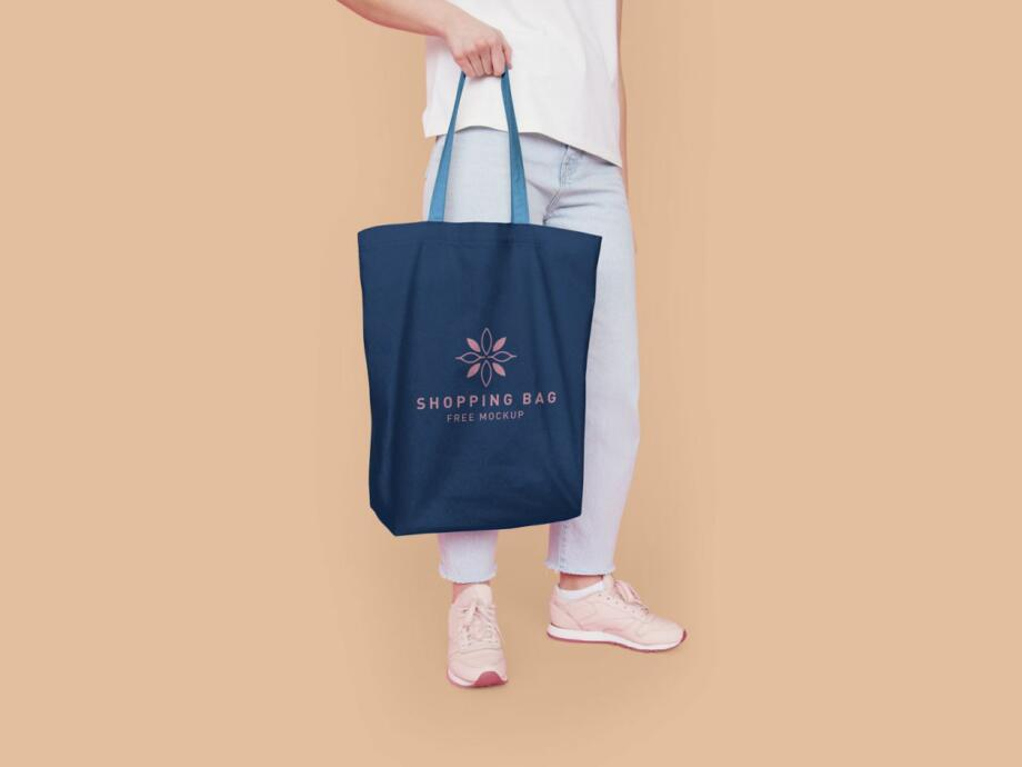 Free Eco-Friendly Shopping Bag Mockup PSD Template