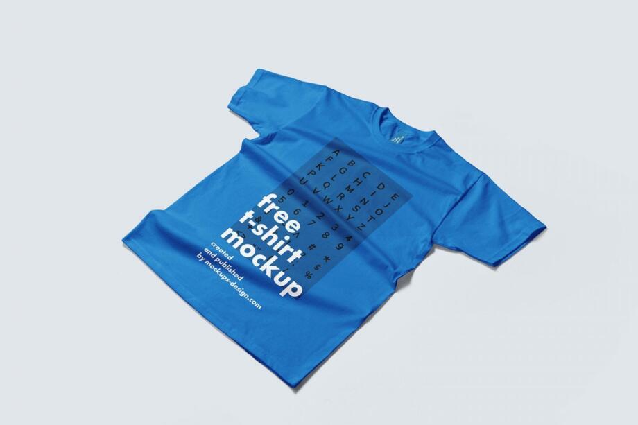 Free Flat T-shirt Mockup PSD Template