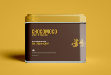Free Food Product Packaging Can Mockup PSD