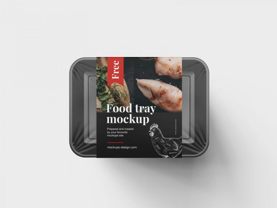 Free Food Tray Mockup PSD Template