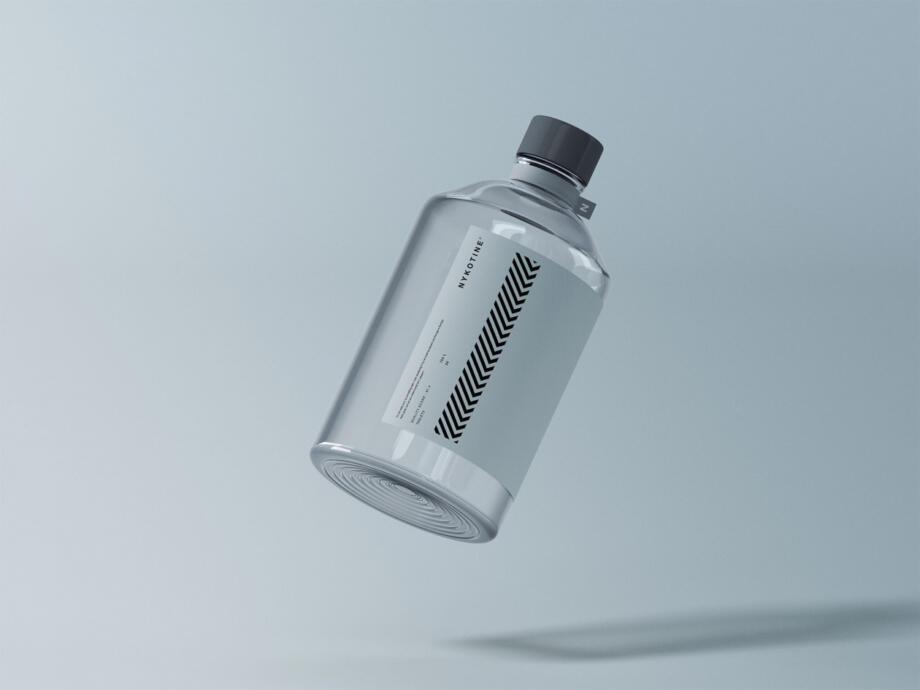Free Glass Medical Bottle Mockup PSD