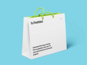 Free High Resolution Bag Mockup PSD
