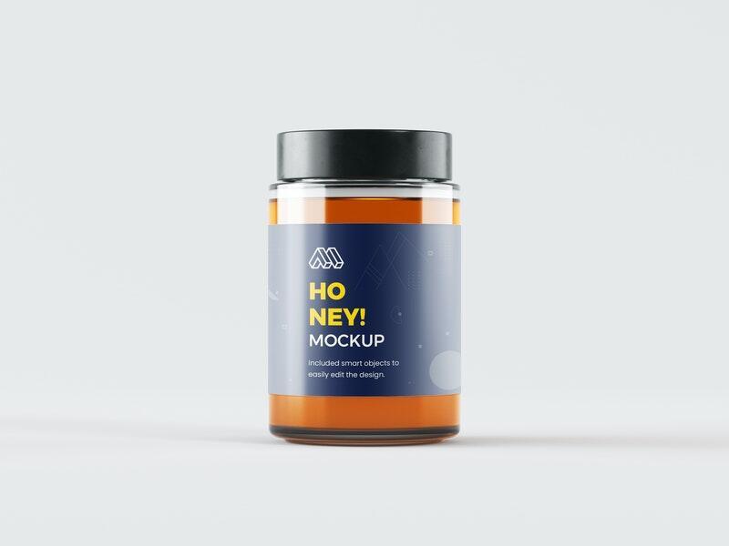 Free Honey Jar PSD Mockup Template