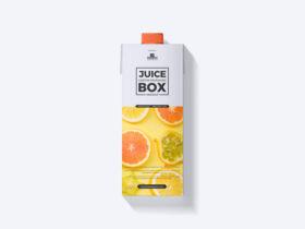Free Juice Carton Packaging Box Mockup PSD