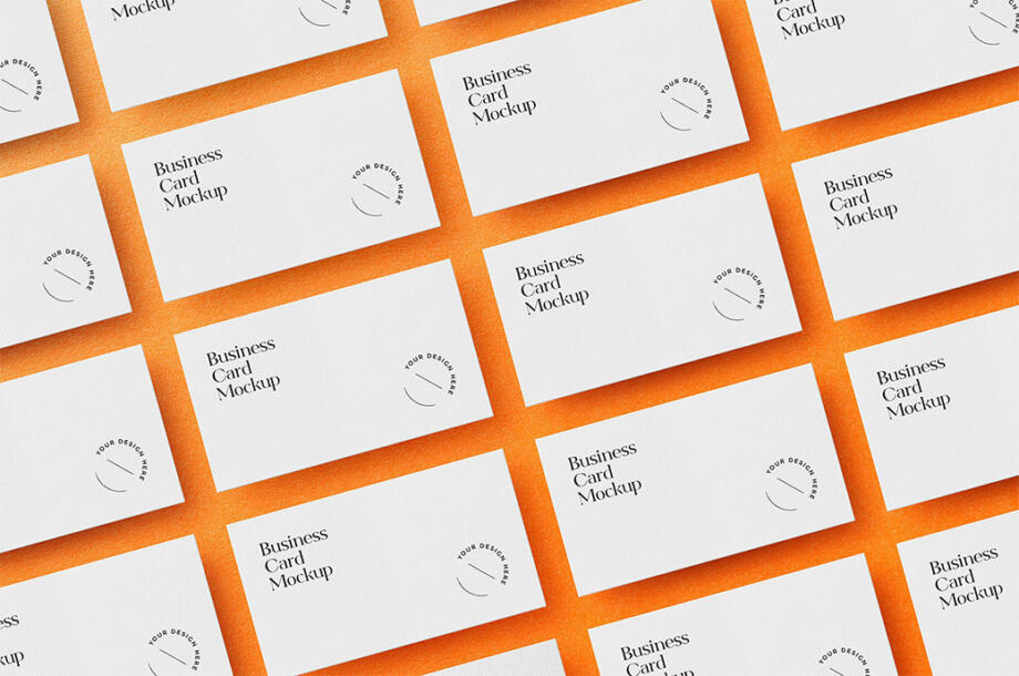 Free Laid Out Business Cards Mockup PSD
