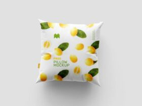 Free Lovely Square Pillow Mockup PSD