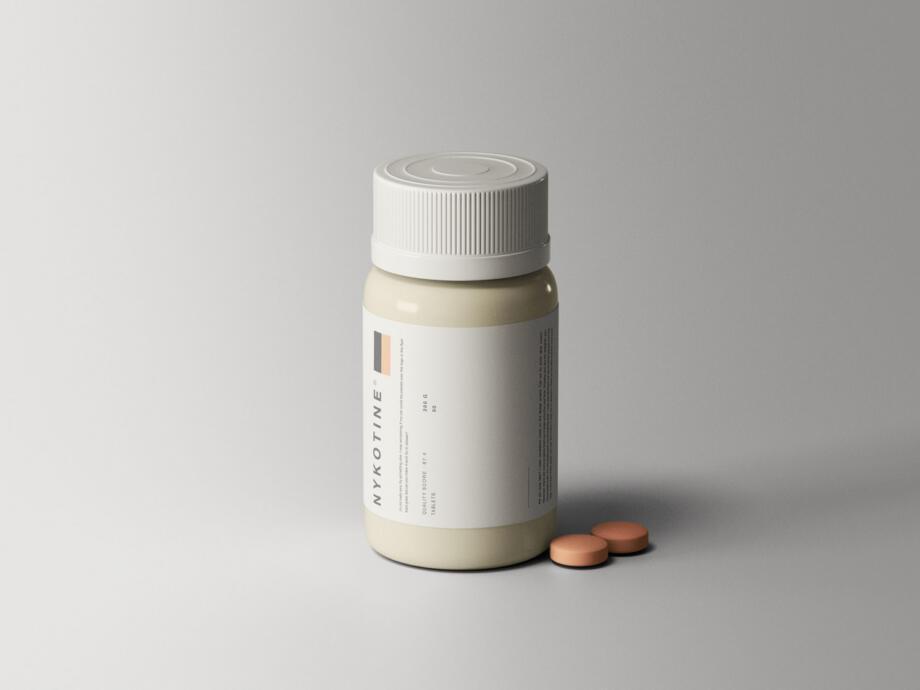 Free Medical Bottle Mockup PSD Template