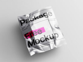 Free Metallic Package Mockup PSD