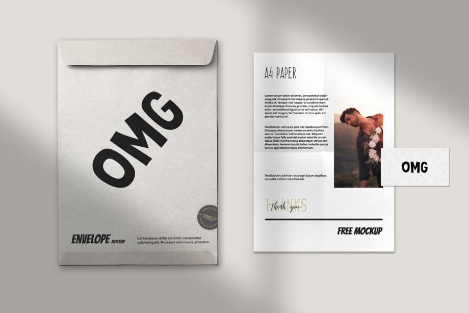 Free Paper Branding Mockup PSD Template