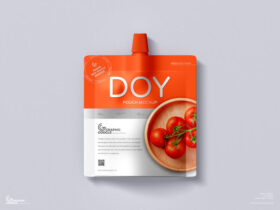 Free Paper Doy Pouch Mockup PSD