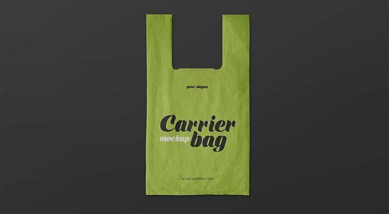 Free Plastic Carrier Bag Mockups PSD