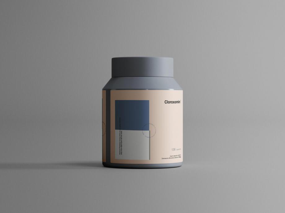 Free Plastic Jar Mockup PSD Template