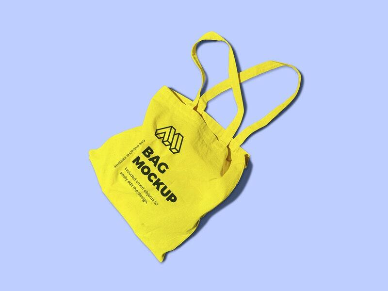 Free Reusable Bag Mockup PSD Template