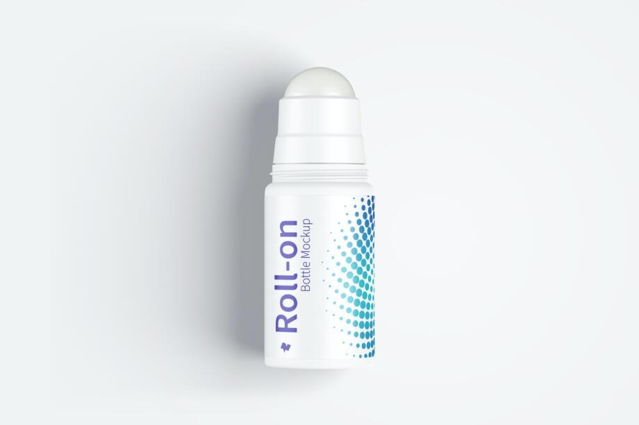 Free Roll-On Bottle Mockup PSD