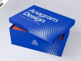 Free Shoe Box Mockup PSD Template