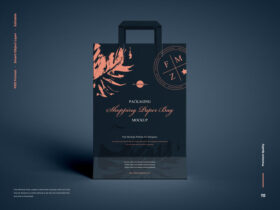 Free Shopping Paper Bag Mockup PSD