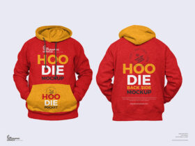 Free Simple Front and Back Hoodie Mockup PSD