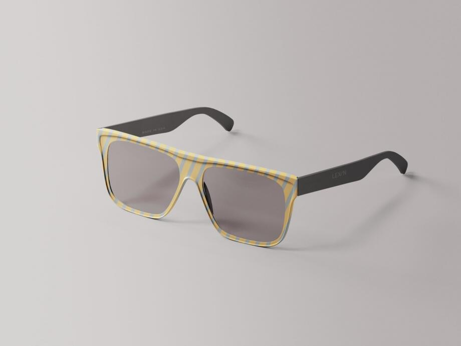 Free Simple Glasses Mockup PSD