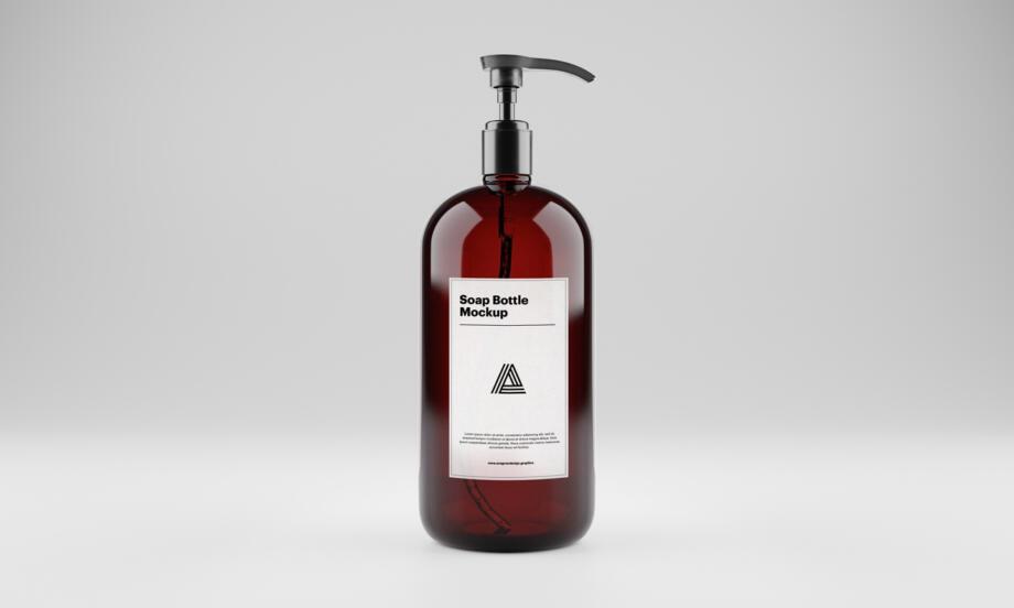 Free Soap Bottle Mockup PSD Template