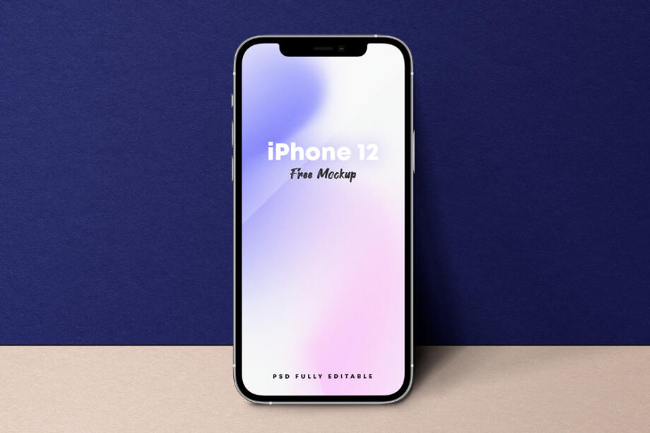 Free Standing iPhone 12 Free Mockup PSD