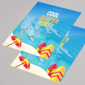 Free Summer Party Vibe Flyer PSD Template
