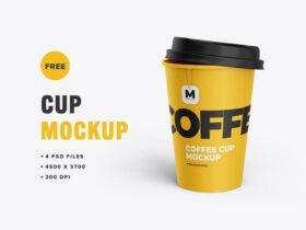 Free Tea and Coffee Cup Mockup PSD